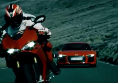 Audi  R8 vs. Ducati