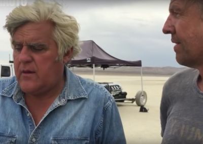 Jay Leno at El Mirage Dry Lake Bed